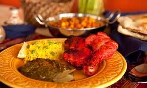 Zaika Indian Cuisine: Indian Dinner for Two, or Delivery or Take-Out at Zaika Indian Cuisine (Up to 48% Off)