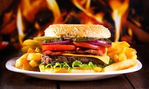 Down Under Australian Restaurant Cafe & Bar: Premium Black Angus Burger mit Bacon, Pommes und Krautsalat für 2 oder 4 Personen im Down Under (bis zu 35% sparen*)