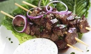 Hanna Meat: 10 Chicken or Beef Kebabs, 41-Piece Barbecue Platter, or Five-Pound Leg of Lamb from Hanna Meat (Up to 51% Off)