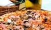 Gnocco fritto, salumi e pizza
