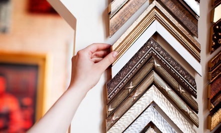 Framing Services at JB Picture Framing Studio (Up to 52% Off). Two Options Available.