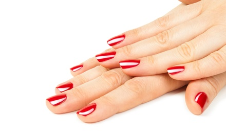 Gel Manicures with Regular Pedicure or Paraffin Wax at Beauty Bar (Up to 57% Off). Four Options Available.
