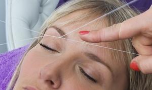 Golden Eyebrow Threading: Eyebrow Threadings with Optional Henna or Upper Lip Threading at Golden Eyebrow Threading (Up to 54% Off)