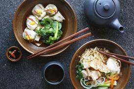 bonbao - fresh asian food: Asiatisches 3-Gänge-Menü nach Wahl für 2 oder 4 Personen bei bonbao - fresh asian food (bis zu 45% sparen*)