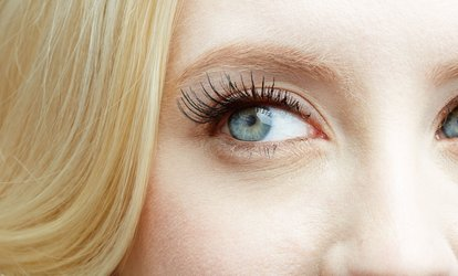 Full Set of Individual Eyelash Extensions with Optional 30-Minute Facial at Pink Line Spa