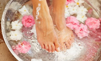 image for One or Two Relaxing Pedicures at Victoria's Nails and Spa (Up to 40% Off)