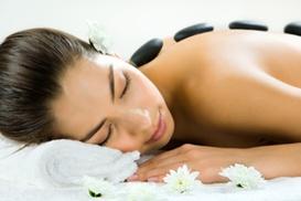 Sugey Spa @ Aldana's: 60-Minute Hot-Stone Massage with Optional Spa Package at Sugey Spa @ Aldana's (Up to 63% Off)