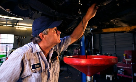 Semi- or Full-Synthetic Oil Change with Tire Rotation and Inspection at Midwest Auto Care (Up to 38% Off)