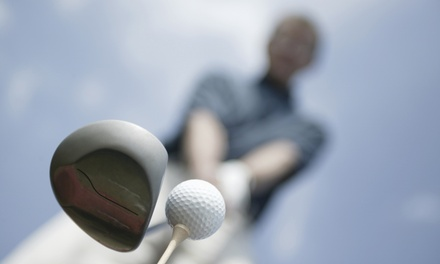 Golf-Simulator Session for Up to Four People with Option for Pizza and Drinks  (Up to 53% Off)