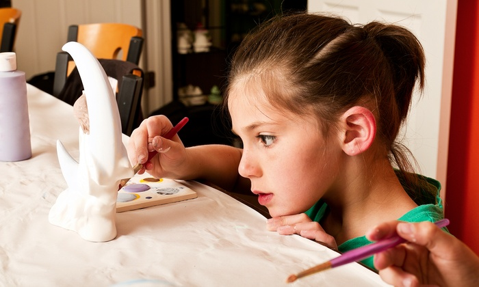 Color Me Mine - Valencia - Valencia: $15 for $30 Towards Painting for Two or More Painters at Color Me Mine in Valencia