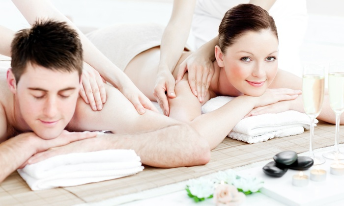 Rubyz Day Spa - Frisco: Couples Massage, Champagne, and Chocolate with Optional $50 Toward Massage at Rubyz Day Spa (Up to 38% Off)