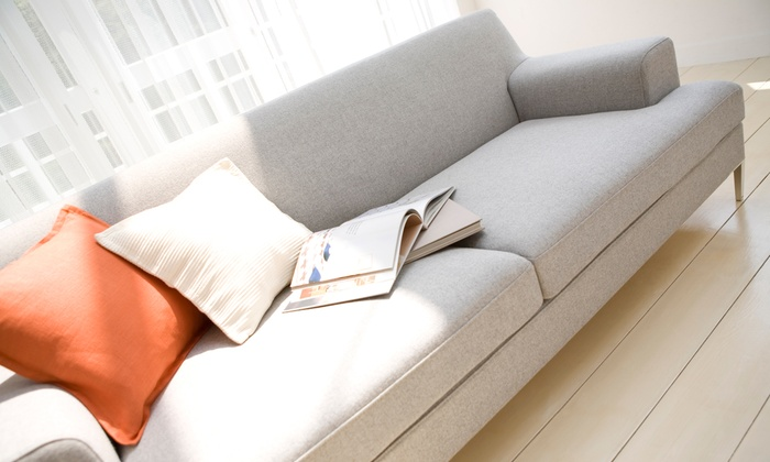 CleanCo - Kansas City: Upholstery Cleaning  Package from CleanCo (Up to 54% Off). Two Options Available.
