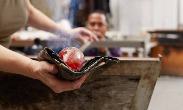 Franklin Glassblowing Studio - Franklin: Flower or Heart Glass-Blowing Workshop for One or Two at Franklin Glassblowing Studio (Up to 56% Off)