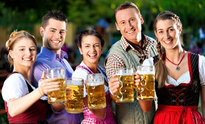 Der Hinterhof Beer Garden: $25.99 for an Oktoberfest Package at Der Hinterhof Beer Garden ($44.50 Value)