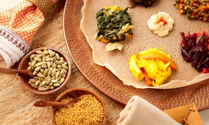 Gojo Ethiopian Restaurant - Berkner Park: Ethiopian Food at Gojo Ethiopian Restaurant and Bar (Up to 50% Off). Two Options Available.