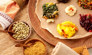 Gojo Ethiopian Restaurant: Ethiopian Food at Gojo Ethiopian Restaurant and Bar (Up to 50% Off). Two Options Available.