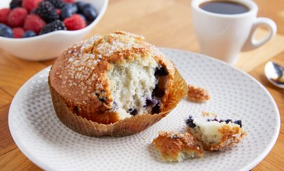 Coffee + Muffin for 1 ($5) or 2 Ppl ($9.50) or Egg and Bacon Roll for 1 ($7.50) or 2 Ppl ($14) at Gumnut Cellars Grocers