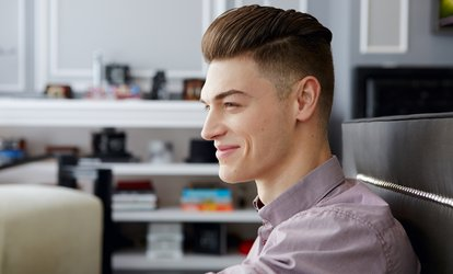 One or Three Men's Haircuts, Styles, Blow-Drys, and Hot-Towel <strong>Shaves</strong> at Cesar's Hair Studio (Up to 51% Off)
