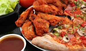 Chicken And Pizza At Zinger Chicken And Pizza (40% Off). Two Options Available.