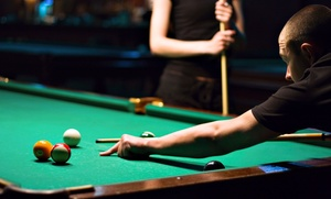 Society Billiard Cafe: $17 for One Hour of Pool and Two Drinks at Society Billiard Café ($28 Value)