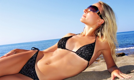 One Month of Unlimited Tans or Three Sunless Spa Spray Tans at Le Beach Club, Cop-A-Tan, or SuperTans (Up to 70% Off)