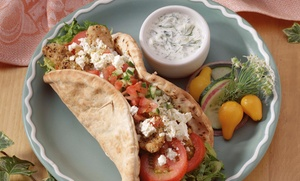 Pat's Place: Greek Food and Drinks at Pat's Place (Up To 40% Off). Two Options Available.