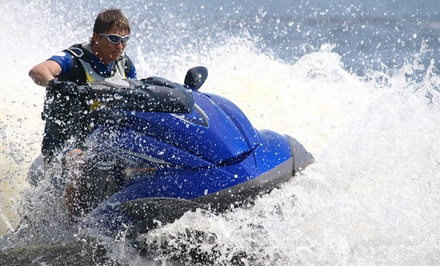 Jet Ski or Pontoon Rental at Lake Tillery Boat Rentals (Up to 31% Off). Four Options Available.