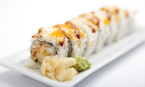 Wasabi Japanese Cuisine: Sushi and Japanese Food at Wasabi Japanese Cuisine (Up to 43% Off). Two Options Available.