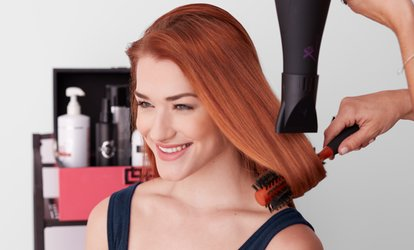 image for Wash, Cut and Blow-Dry with Optional Half Head Highlights or Full Head Colour at The Hair Lounge (Up to 55% Off)