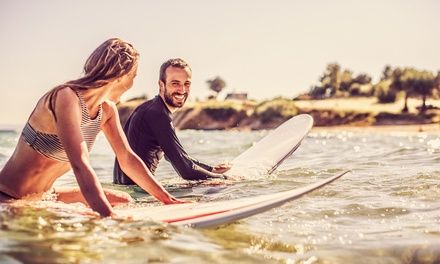 Curso intensivo de 10 horas de surf por 5 días para 1 o 2 personas desde 64,95 € en Ika Ika Surfcamp