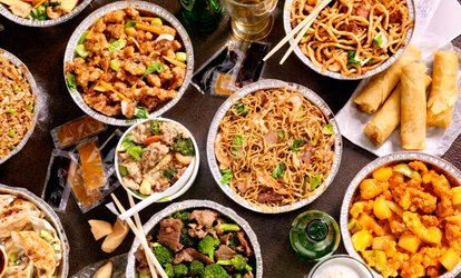 image for Five Pan Asian Chinese Tapas Dishes and Wine for Two at Mybar and Eatery (Up to 39% Off)