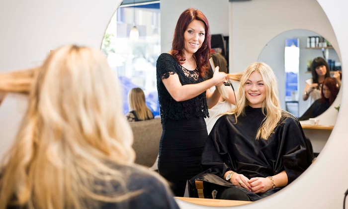 Haircut with blow dry rene beaute salon groupon for Renee hair salon