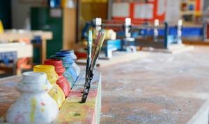 Kunstzentrum Farbenmeer: 4 Std. Malkurs inkl. Material, Getränken und Knabbereien für 1 oder 2 Pers. im Kunstzentrum Farbenmeer (bis 69% sparen*)