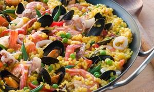 L'Arcangelo (Brescia): Degustazione di 4 antipasti di mare e paella illimitata per 2 o 4 persone da L'Arcangelo (sconto fino a 68%)
