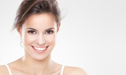 Laser teeth Whitening with Check-Up, X-Rays and Optional Scale and Polish with Air-Flow, Two Locations (Up to 86% Off)