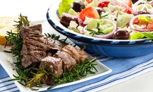 Restaurant Olympia: Griechische Samos-Platte mit Grillspezialitäten und Ouzo für Zwei, Vier oder Sechs im Restaurant Olympia