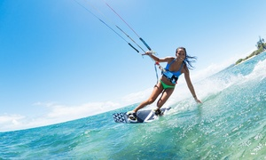 Kitethrills: One-Hour Beginner Kitesurfing Lesson for One ($45), Two ($45) or Four People ($89) with Kitethrills (Up to $360 Value)
