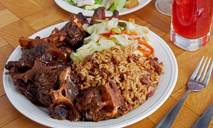Credit for Food for Two or Four People at Mamee's Kitchen Authentic Jamaican Cuisine & Catering (Up to 42% Off)