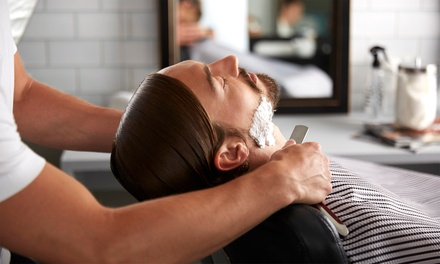 Wash, Cut and HotWet Shave with Optional Full Service at Kamrans Barbers