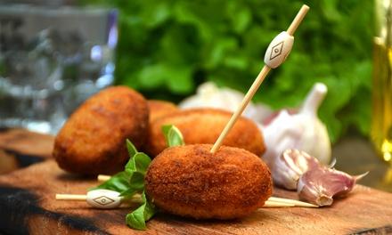 Menú de croquetas artesanas variadas con bebida o para llevar desde 9,95 € en La Croquetería