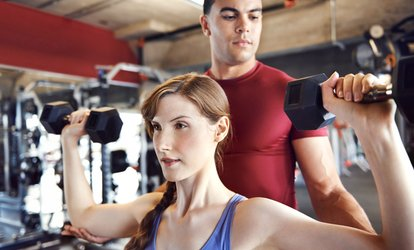 image for One-Month Gym Membership with Three Personal Training Sessions at Fitt Pro (78% Off)