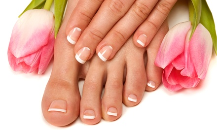 One or Three Mani-Pedis or a Full Set of Acrylic Nails at High Gloss Nail & Beauty Lounge (Up to 54% Off)