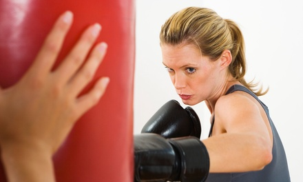 6 or 10 Women's Kickboxing Classes or One Month of Unlimited Classes at Kickboxing of Farmington (Up to 76% Off)