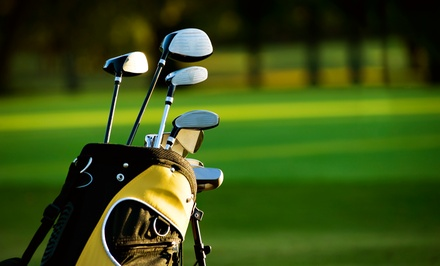 Golf Outing with Cart for Two or Four at Tee Time Golf and Cafe (Up to 50% Off). Four Options Available.