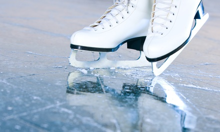 Two or Four Groupons, Each Good for Public Skate Admission and Skate Rental at Steel Ice Center (Up to 53% Off)