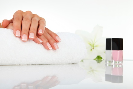 One or Three Gel Mani-Pedis or Full Set of Acrylic Nails with Gel Polish atOriental Spa (Up to 52%Off)