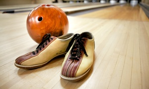 Scores Fun Center: Two Games of Bowling and Shoe Rental for Two, Four, or Up to Six People at Scores Fun Center (Up to 59% Off)