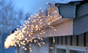 C&R Lighting: Holiday-Light Installation with Optional Purchase for One- or Two-Story House from C&R Lighting (Up to 30% Off)