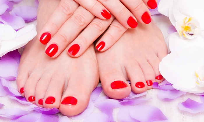 Enchante A European Salon - Fort Collins: $41 for a Spa Manicure and Pedicure at Enchante A European Salon ($70 Value)