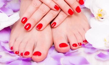 $41 for a Spa Manicure and Pedicure at Enchante A European Salon ($70 Value)